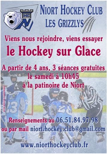 Inscription, hockey sur glace Niort, 3 séances gratuites